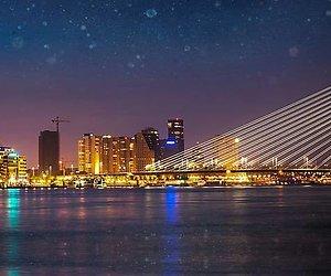 Kerstfeest in de stad in Rotterdam