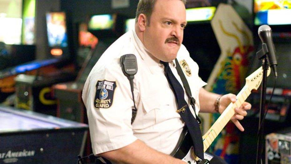 Kevin James op een Segway in Paul Blart: Mall Cop