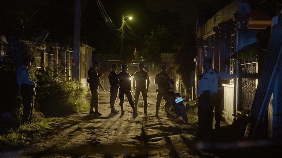 In San Pedro Sula lijkt het wel oorlog