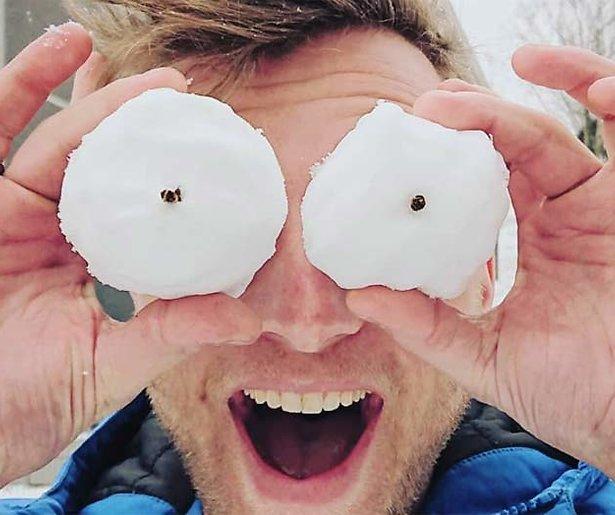 BN'ers in de sneeuw