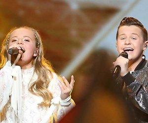 Nederlandse Max en Anne dertiende op Junior Songfestival