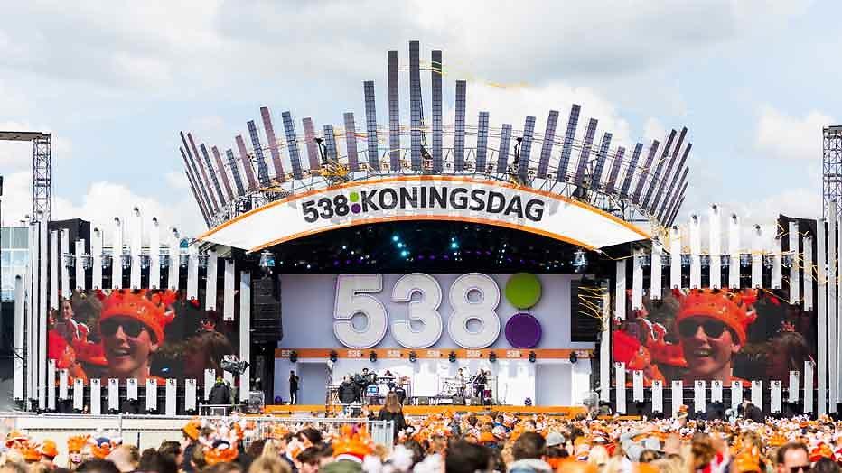538 Koningsdag voor het eerst live op tv