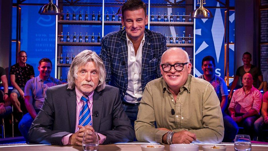 Johan Derksen, Wilfred Genee en René van der Gijp bij Veronica Inside.