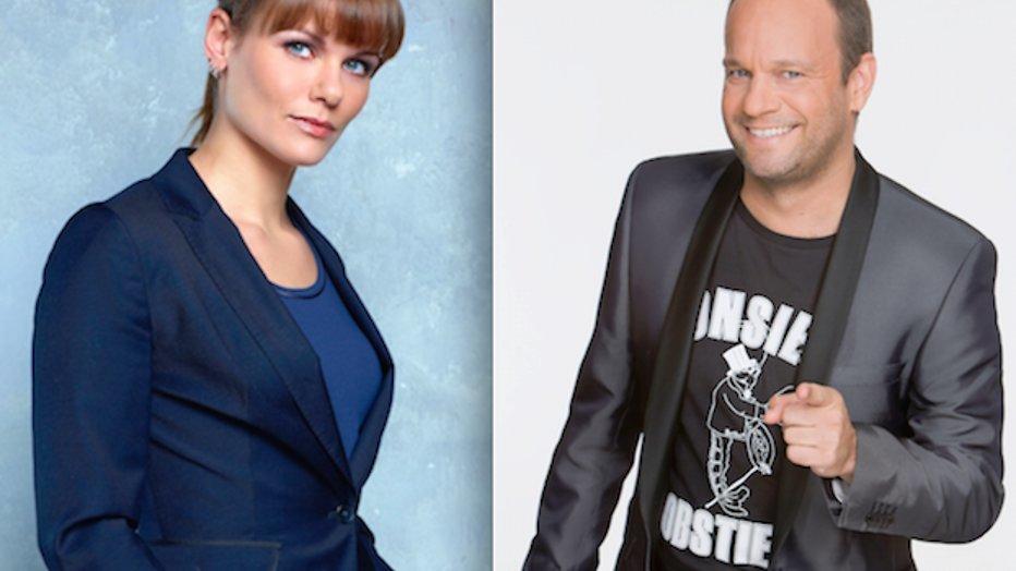 Carlo Boszhard en Angela Schijf in jury Superkids
