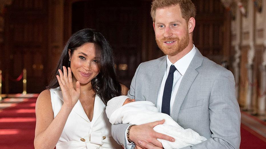 Meghan en Harry en hun baby Archie