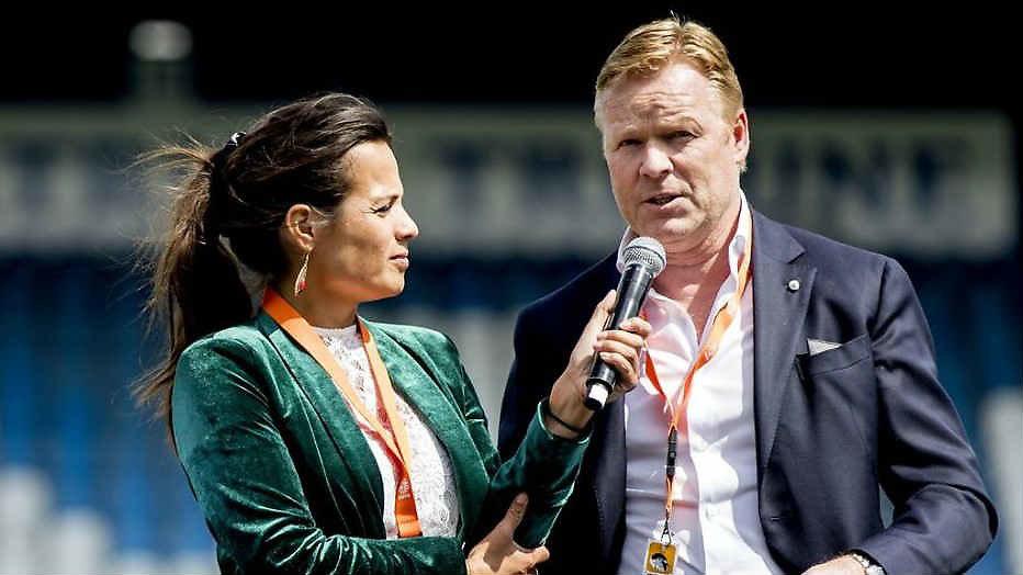 Aletha met bondscoach Ronald Koeman