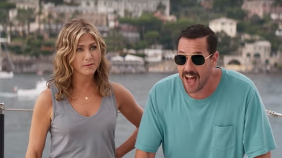 Jennifer Aniston en Adam Sandler