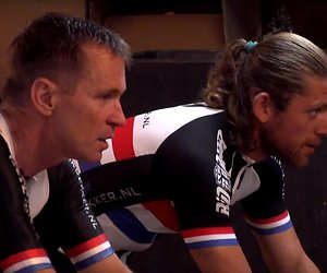 Adriaan fietst wedstrijdje tegen Erik Dekker in Utopia