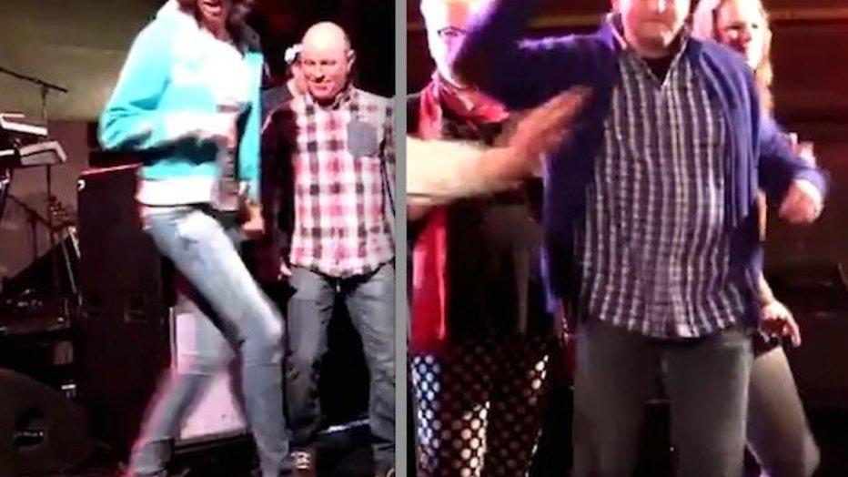 YouTube-hit: Boerin Bertie hakt erop los op BZV-party