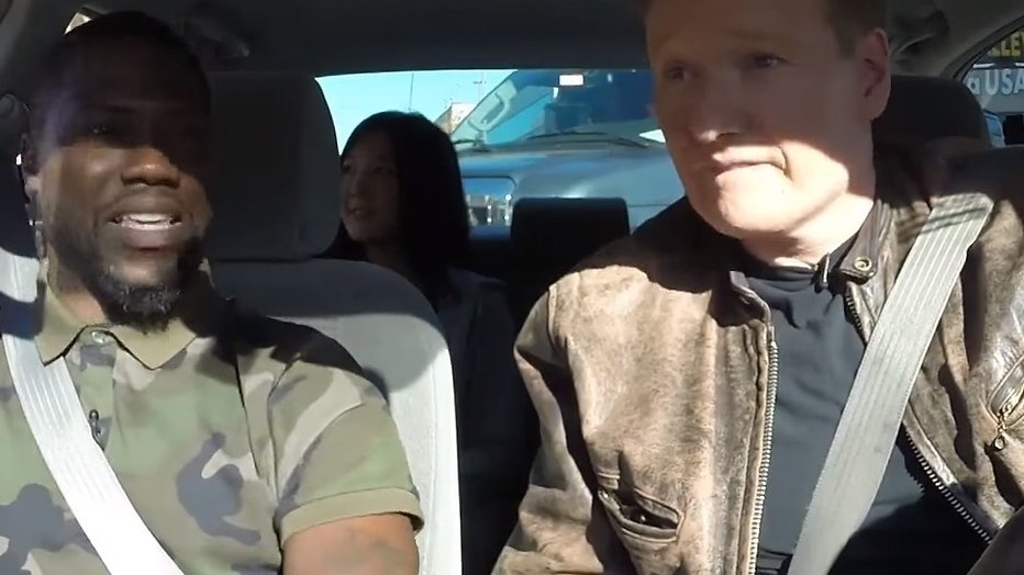 YouTube-hit: Conan O'Brien geeft rijles