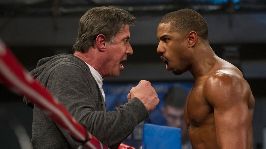 Michael B. Jordan krijgt boksles van Sylvester Stallone