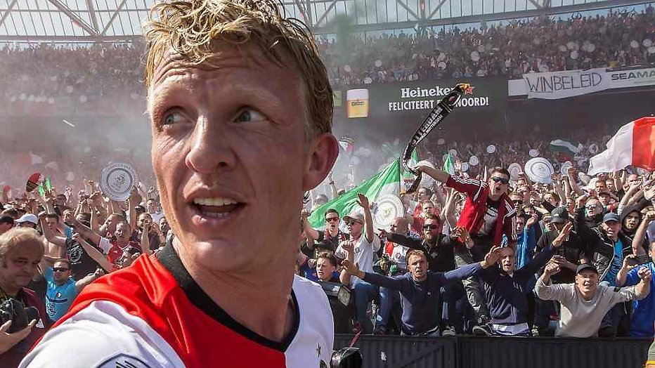 Dirk Kuyt van Feyenoord in RTL Late Night