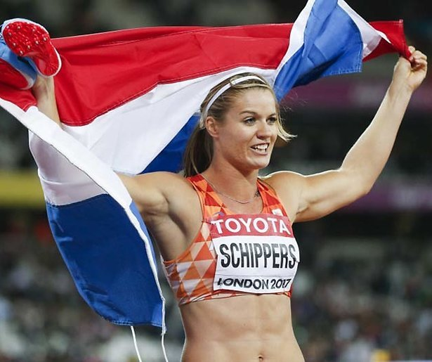 Wereldkampioene Dafne Schippers dinsdag bij Jinek