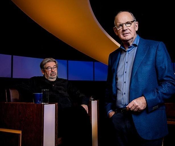 Viggo Waas en Josje Huisman in De Slimste Mens