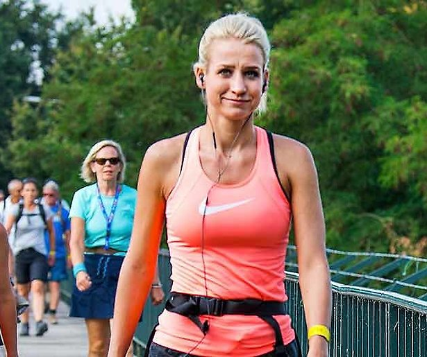 Dionne Stax loopt Nijmeegse Vierdaagse uit