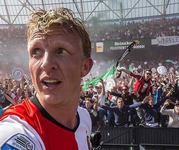 Dirk Kuyt van Feyenoord in RTL Late Night
