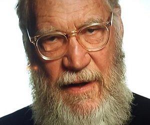 David Letterman heeft een enorme baard
