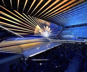 Het decor van het Eurovisie Songfestival is klaar