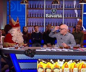 Videosnack: 'Directeurtje' weer als sarcastische Sinterklaas aan tafel bij VI