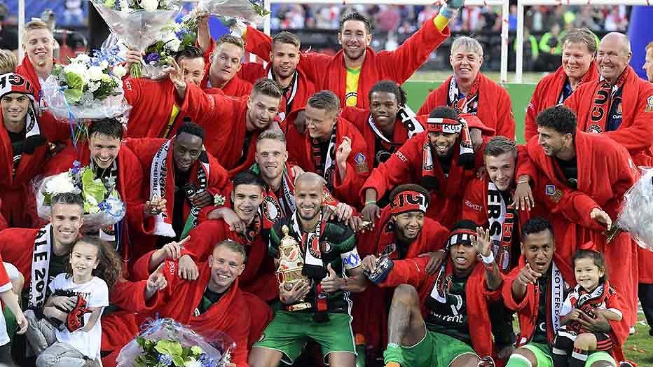 Huldiging Feyenoord live op tv