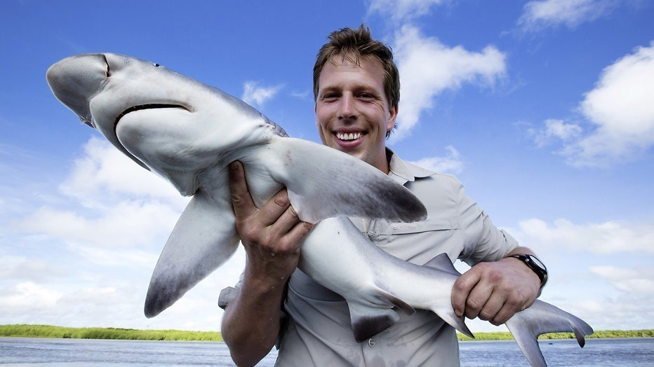 Freek Vonk zwemt weer met haaien