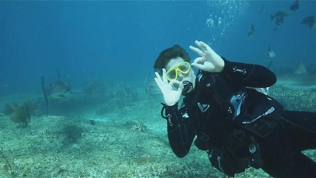 Freek naar de haaien