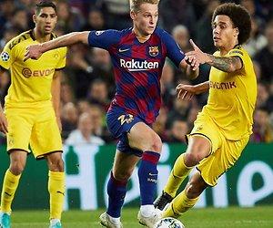 Frenkie met FC Barcelona naar Napels