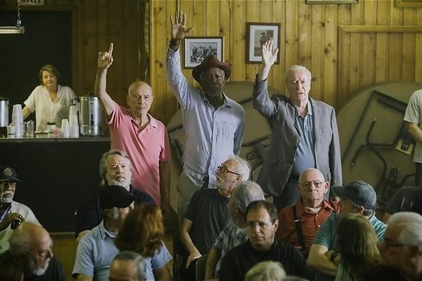 Morgan Freeman als bejaarde bankovervaller