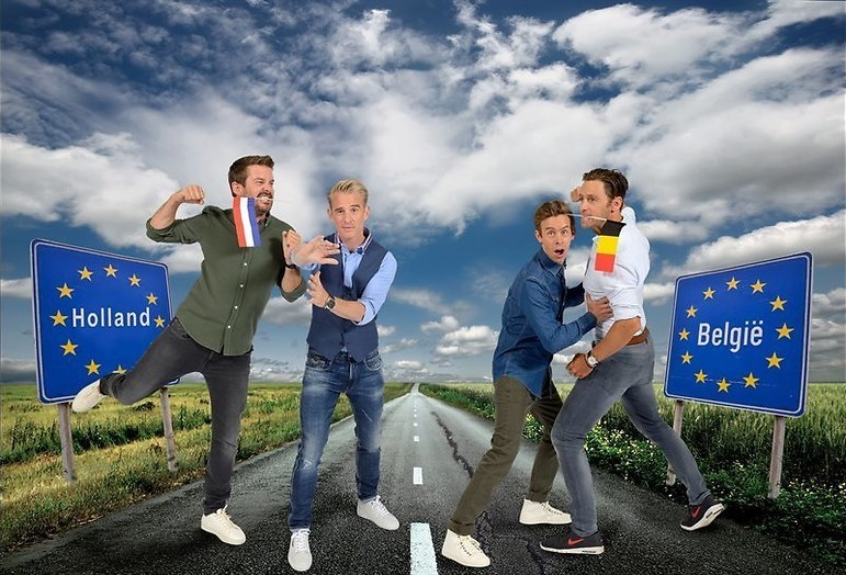 Komiek tegen komiek in Holland - België
