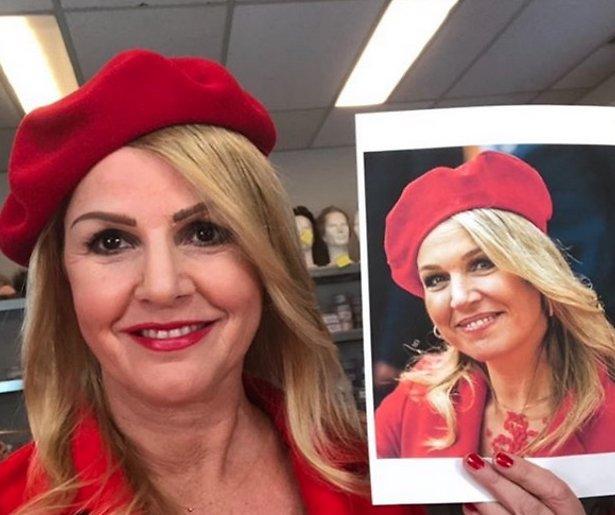 Irene Moors transformeert in Máxima voor TV Kantine