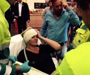 Irene Moors met hoofdwond afgevoerd naar ziekenhuis