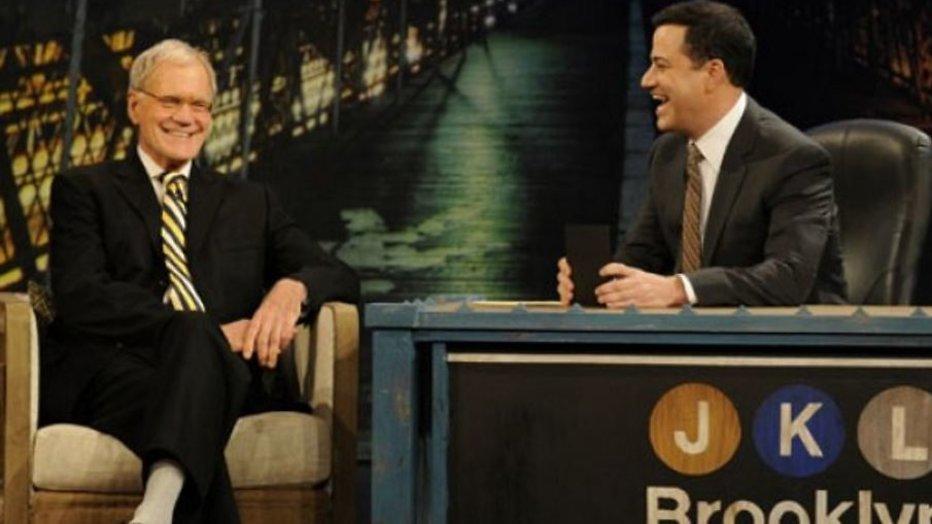 Jimmy Kimmel erfde alle stropdassen van David Letterman