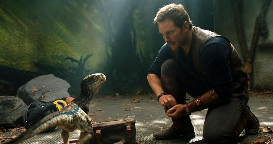 Christ Pratt in een eerdere Jurassic World-film