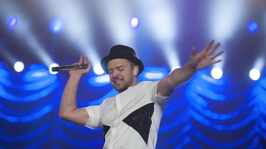 Justin Timberlake treedt op tijdens finale Eurovisie Songfestival