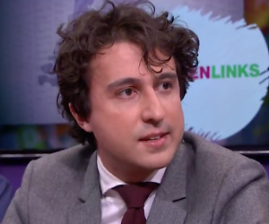 Jesse Klaver emotioneel in RTL Late Night