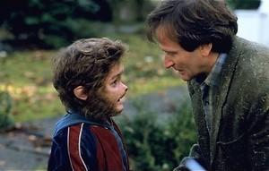 Robin Williams zit vast in een bordspel