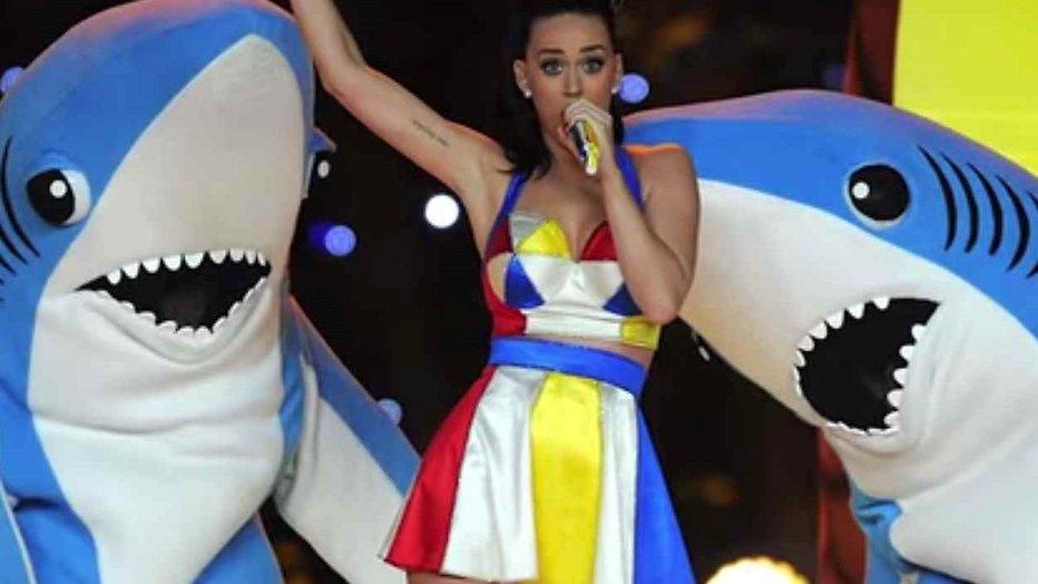 Wie zijn toch die haaien achter Katy Perry?