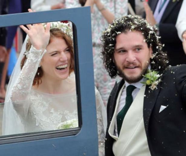 Kit Harrington en Rosie Leslie getrouwd