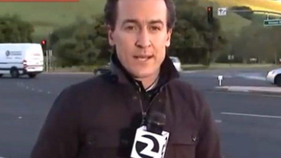 YouTube-hit: Amerikaanse verslaggever bijna geraakt door auto