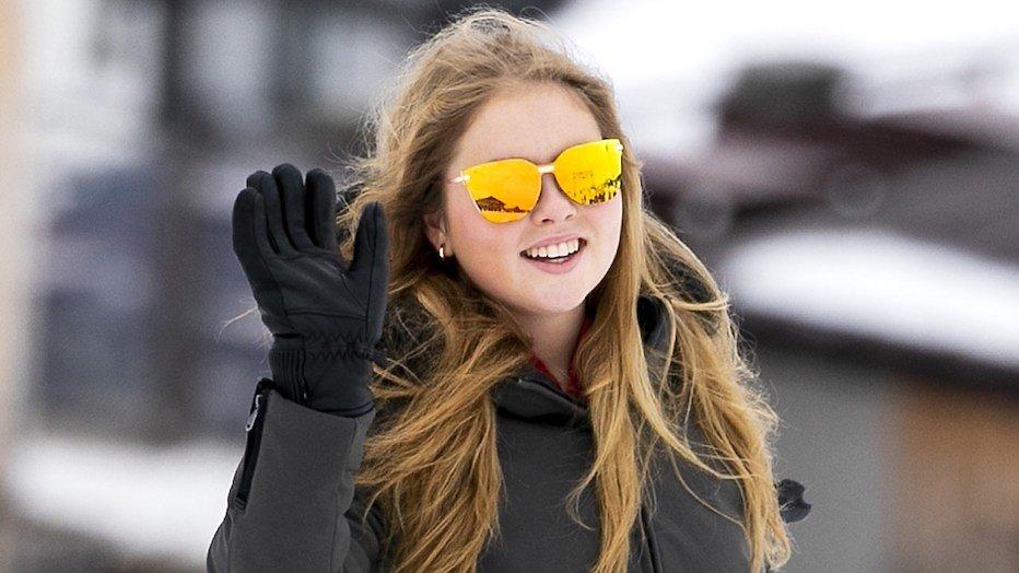 Prinses Amalia draagt zonnebril van bekende actrice