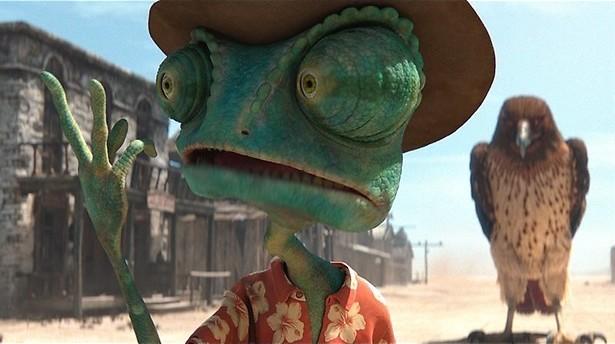 Johnny Depp als dappere kameleon in Rango