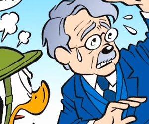 Meester Frank Visser beleeft Donald Duck debuut