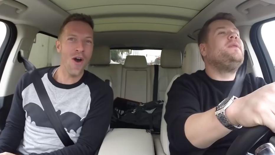 YouTube-hit: Karaoke met Coldplay-zanger Chris Martin en James Corden