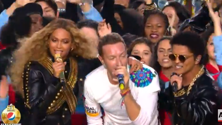 YouTube-hit: Coldplay, Bruno Mars en Beyoncé tijdens 50ste editie Super Bowl