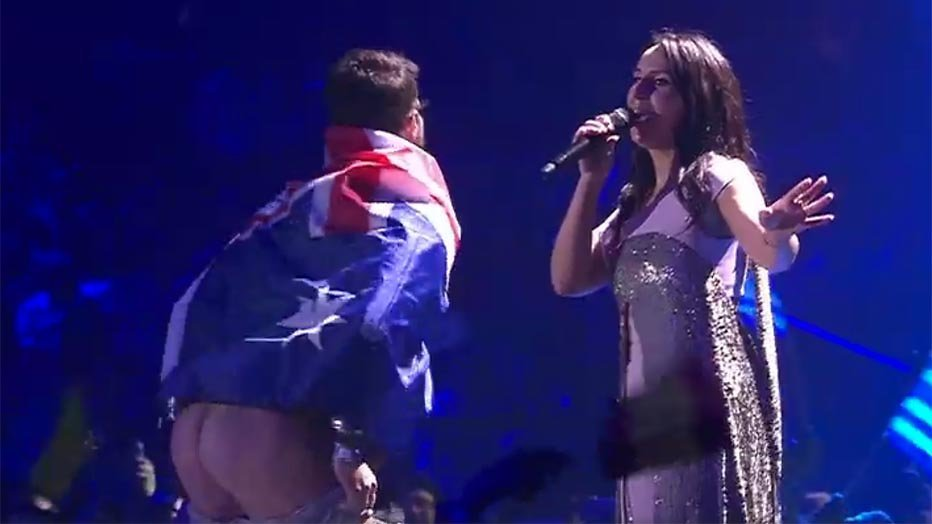 Streaker Eurovisie Songfestival blijkt bekende Oekraïner