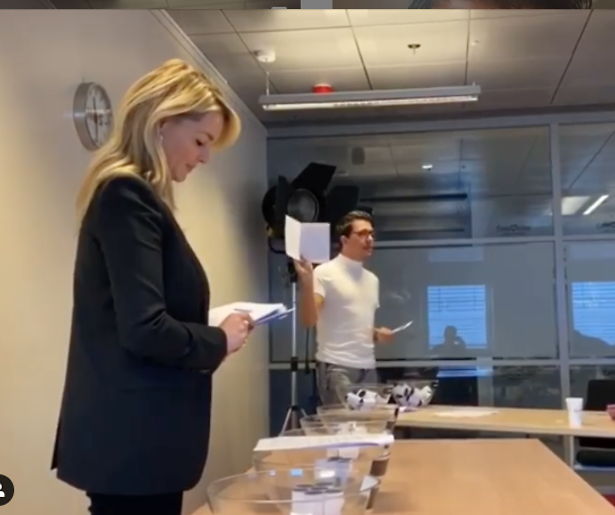 Jan Smit en Chantal Janzen oefenen loting Eurovisie Songfestival