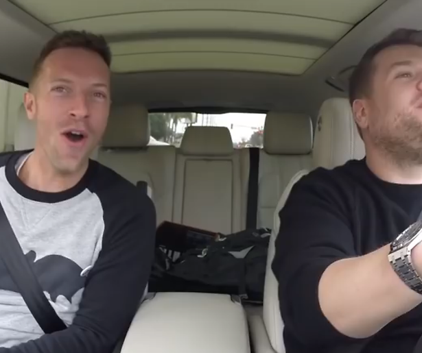 YouTube-hit: Karaoke met Coldplay-zanger Chris Martin en James Corden