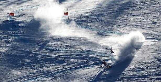 Niet springen, maar skiën