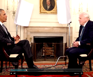 Barack Obama interviewt David Attenborough bij de NOS