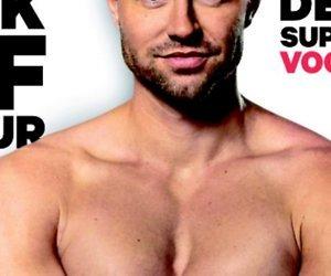 Gespierde Simon Keizer op cover Men's Health